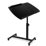 Rotating Mobile Laptop Adjustable Desk Black