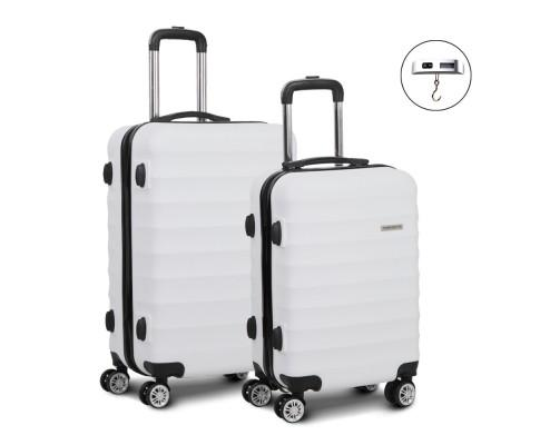 set-of-2-hard-shell-lightweight-travel-luggage-with-tsa-lock-white-lug-abs-aj-2set-wh-bitcoin-bitpay-litecoin