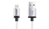 Mozbit 2M Aluminium Nylon Lightning Sync & Charge Cable