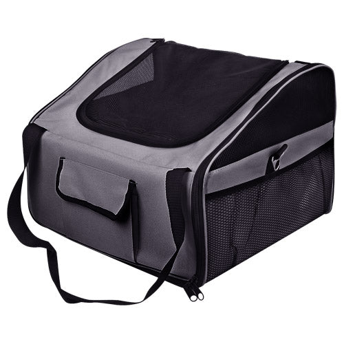 Pet Dog Cat Car Seat Carrier Travel Bag Large Grey