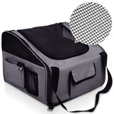 Pet Dog Cat Car Seat Carrier Travel Bag Small Grey