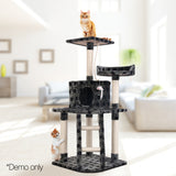 Cat-Scratching-Poles-Post-Furniture-Tree-House-Condo-Black-Grey-Pet-Cat-Tree-Giant