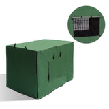 "42"" Foldable Metal Dog Cage with Cover Green"