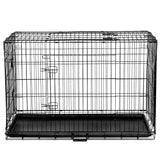 "48"" Foldable Metal Dog Cage with Cover Green"