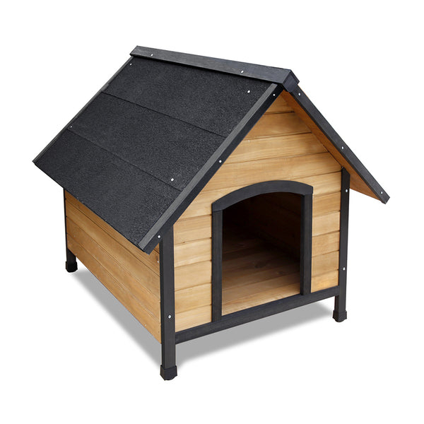 Wooden Dog Kennel Black - Large