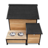 Timber Dog Kennel w/ Food Bowls