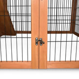 Deluxe-Rabbit-Cage-Hutch-w/-Under-Run-PET-GT-WOOD-R8002-S