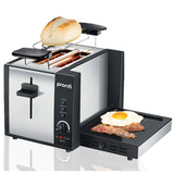 Pronti 3-in-1 Toaster Griddle Hot Plate Electric 2 Slices Grill