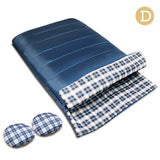 Camping Envelope Sleeping Bag Double Navy