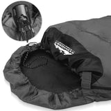 Single Camping Envelope Sleeping Bag Grey Black