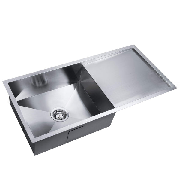 Stainless Steel Kitchen/Laundry Sink w/ Strainer Waste 960x450mm