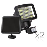 Set of 2 120 LED Solar Sensor Outdoor Light