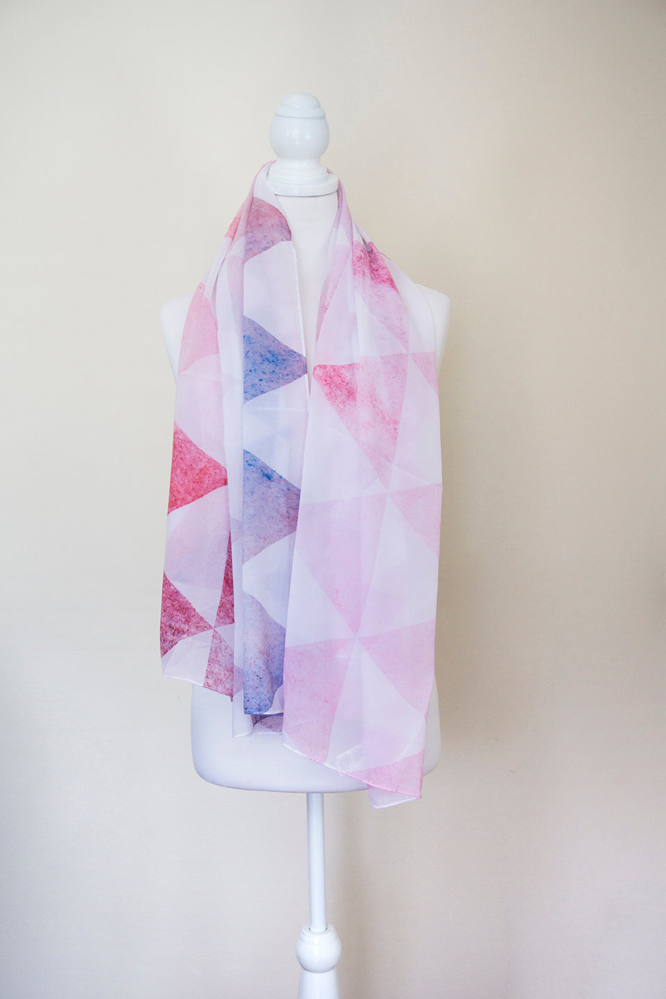 Pink Geometric Large Square Scarf - Project Kate