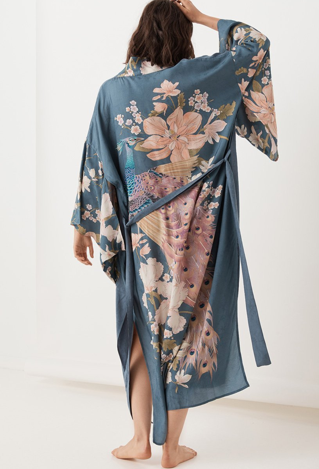 Waterfall Robe Deep Blue