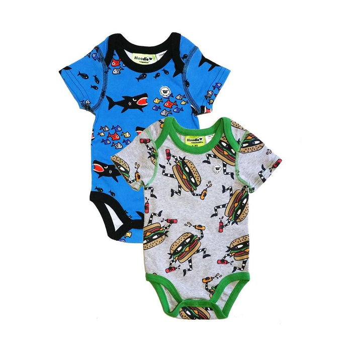 2PACK: 3 Snap Bodysuit for Baby Boys - Sleep N Play Pajamas & Onesie | Infant to 24 Months - Moodie