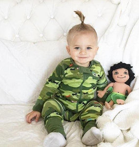 Ant Army 2 Way Zipper Onesies for Baby Boys - Sleep N Play Footless Pajamas | Infant to 24 Months - Moodie