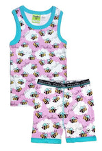Bumble Bee Pajama Set for Girls - Cotton Pajama Tank Top and Shorts Set | Toddler-10 Yrs - Moodie