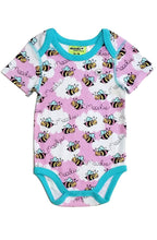 Bumblebee 3 Snap Bodysuit for Baby Girls - Sleep N Play Pajamas & Onesie | Infant to 24 Months - Moodie