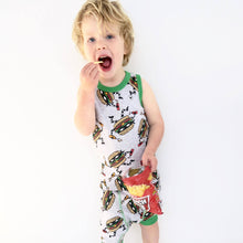 Cheeseburglar Pajama Set for Boys - Cotton Pajama Top and Drop Crotch Shorts Set for Boys | Toddler-10 Yrs - Moodie