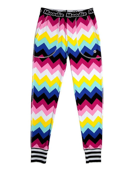 Chevron Pajama Pant for Women | Cotton Pajamas  - Winter Sleepwear / Loungewear - Moodie