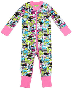 Fairy Amusing 2 Way Zipper Onesies for Baby Girls - Sleep N Play Footless Pajamas | Infant to 24 Months - Moodie