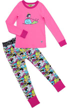 Fairy Snail Pajama Set for Girls - Winter Pajama Top and Drop Crotch Pants Set | Toddler-10 Yrs - Moodie