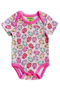 Gummy Bears 3 Snap Bodysuit for Baby Girls - Sleep N Play Pajamas & Onesie | Infant to 24 Months - Moodie