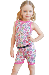 Gummy Bears Pajama Set for Girls - Cotton Pajama Tank Top and Shorts Set | Toddler-10 Yrs - Moodie