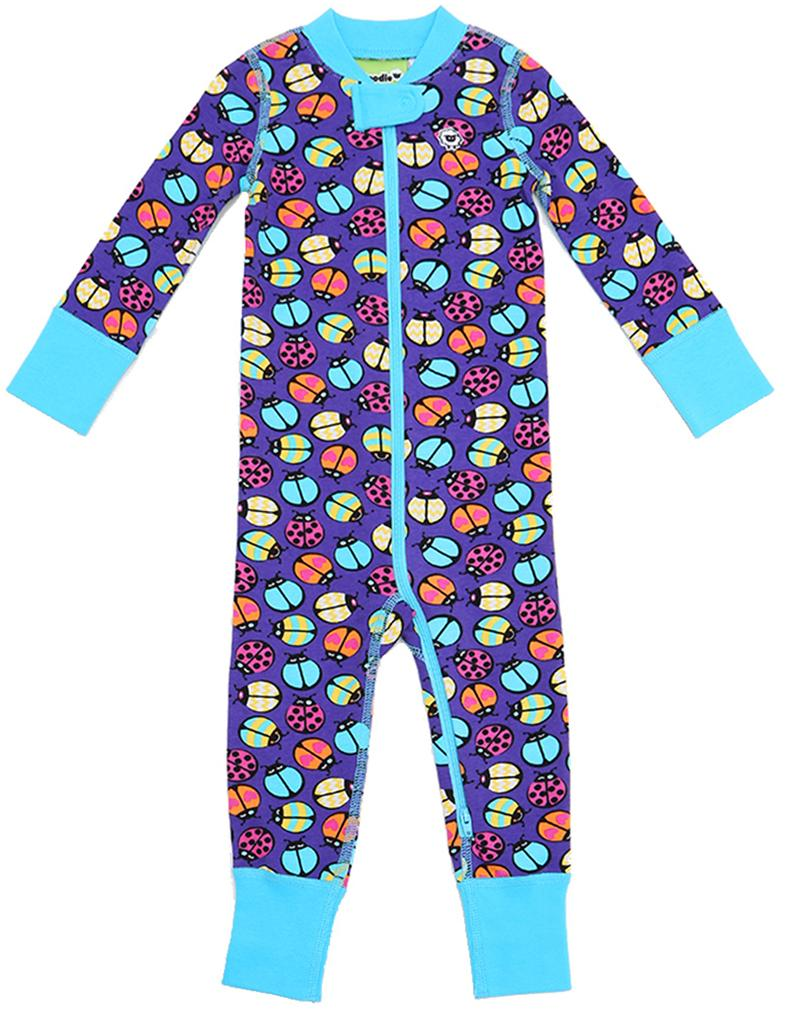 Lady Buggin' 2 Way Zipper Onesies for Baby Girls - Sleep N Play Footless Pajamas | Infant to 24 Months - Moodie