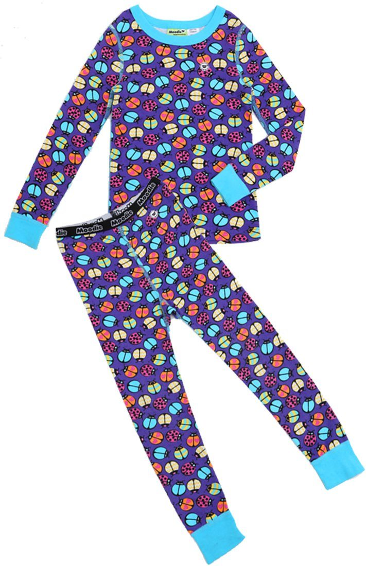 Lady Buggin' Pajama Set for Girls - Winter Pajama Top and Pants Set | Toddler-10 Yrs - Moodie