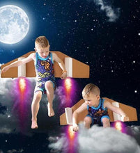 Lost in Space Pajama Set for Boys - Cotton Pajama Top and Drop Crotch Shorts Set for Boys | Toddler-10 Yrs - Moodie