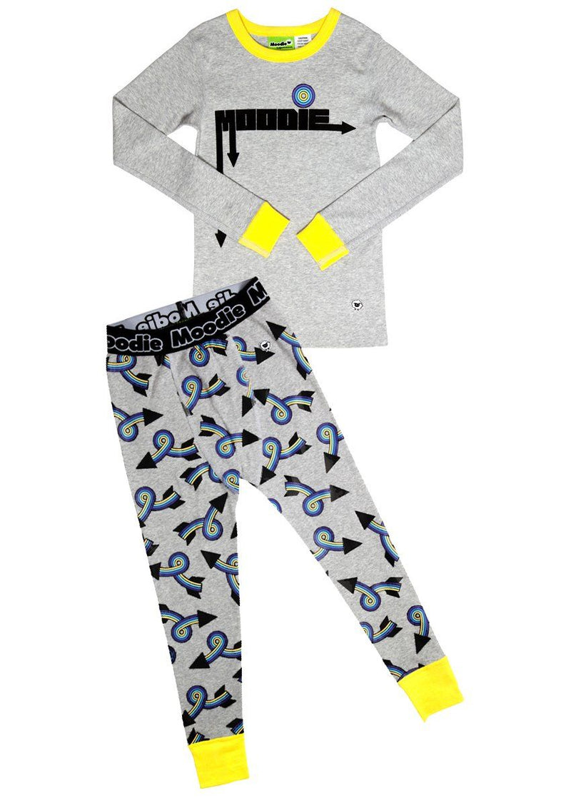 One Direction Pajama Set for Boys - Winter Pajama Top and Drop Crotch Pants Set | Toddler-10 Yrs - Moodie