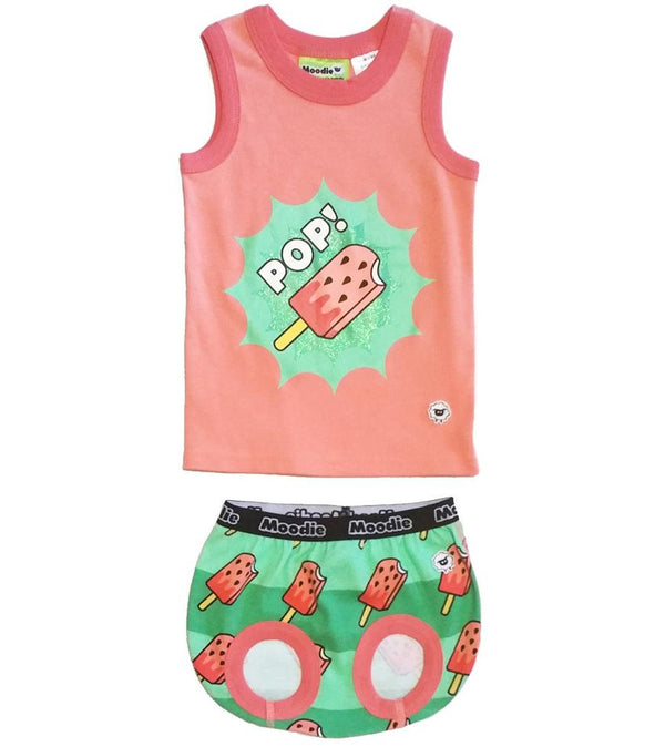 POP! 2-Piece Clothing Set for Baby / Cotton Tank Top & Bloomer Set / Girls Pajamas (Infant - 24 Months Toddler) - Moodie