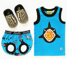 Shark Attack 2-Piece Clothing Set for Baby / Cotton Tank Top & Bloomer Set / Boys Pajamas (Infant - 24 Months Toddler) - Moodie