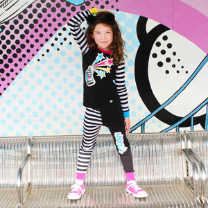 Tag! You're It  Pajama Set for Girls - Winter Pajama Top and Pants Set | Toddler-10 Yrs - Moodie