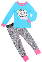 Winky Puff Pajama Set for Girls - Winter Pajama Top and Drop Crotch Pants Set | Toddler-10 Yrs - Moodie