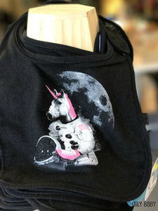 Bib - Astronaut Unicorn - Black