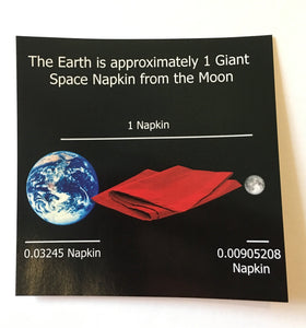 4x4 Sticker - Space Napkin