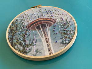 DIY Craft Kit - Embroidery - Space Needle