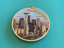 Load image into Gallery viewer, DIY Craft Kit - Embroidery - Seattle Skyline