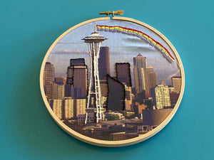 DIY Craft Kit - Embroidery - Seattle Skyline