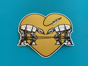 Sticker - Love AT-AT First Sight - Yellow