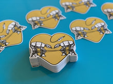 Load image into Gallery viewer, Die Cut Sticker - Love AT-AT First Sight - Yellow