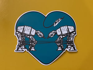 Die Cut Sticker - Love AT-AT First Sight - Blue