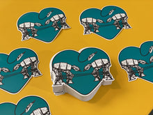 Load image into Gallery viewer, Die Cut Sticker - Love AT-AT First Sight - Blue