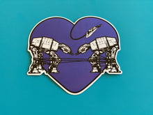 Load image into Gallery viewer, Sticker - Love AT-AT First Sight - Dark Purple