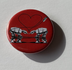Magnet - 1.25 Inch: Love AT-AT First Sight - Red
