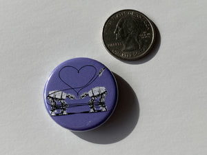 Magnet - 1.25 Inch: Love AT-AT First Sight - Purple