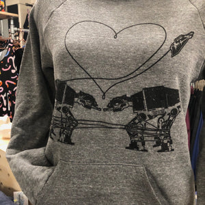 Fleece Sweatshirt: Love AT-AT First Sight