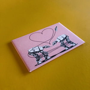 Magnet: 3x2 Inch - Love AT-AT First Sight - Pink